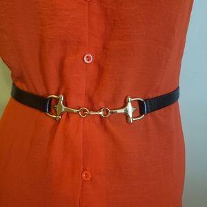 Holt Renfrew Horsbit Buckle Leather Belt